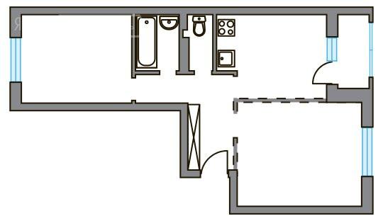 2-комнатная квартира в ЖК Театральный парк